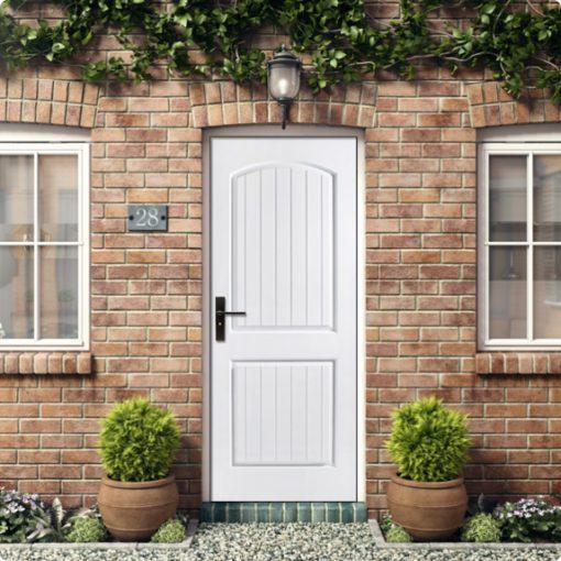 ประตูบ้าน fiberglass รุ่น 2p ประตูบ้านคุณภาพที่ใช้ได้ทั้งภายนอกและภายใน ทนแดด กันน้ำ กันปลวกไม่ลามไฟ