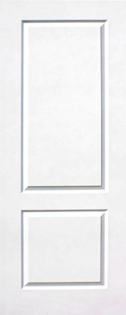ประตูไม้อัด (HDF) รุ่น 2HM สีขาว
