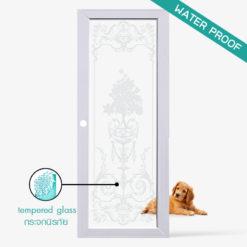 ประตูบ้าน-UpvcProfile-รุ่น-Flower-ใช้สำหรับประตูกระจกห้องครัวห้องนั่งเล่นภายใน กระจกนิรภัยมีความแข็งแรงปลอดภัยสูงกันน้ำ กันปลวก