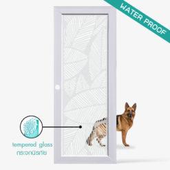 ประตูบ้าน-UpvcProfile-รุ่น-Leaf-ใช้สำหรับประตูกระจกห้องครัวห้องนั่งเล่นภายใน กระจกนิรภัยมีความแข็งแรงปลอดภัยสูงกันน้ำ กันปลวก