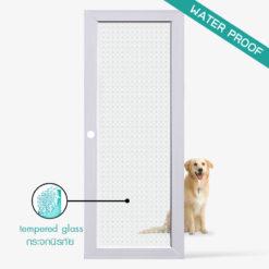 ประตูบ้าน-UpvcProfile-รุ่น-Pyramid-ใช้สำหรับประตูกระจกห้องครัวห้องนั่งเล่นภายใน กระจกนิรภัยมีความแข็งแรงปลอดภัยสูงกันน้ำ กันปลวก